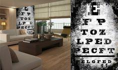 Eye chart Wallpaper by Black Crow Studios (custom wallpaper company)  062910walllpaper3_rect540
