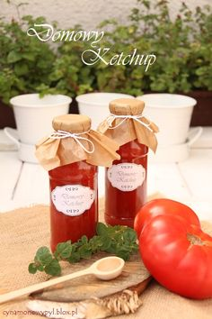 domowy ketchup Ketchup, Jar, Homemade, Wine, Table Decorations, Canning, Bottle, Summer, Summer Time