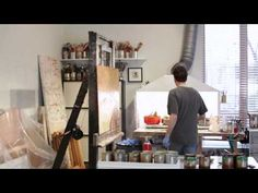 Alexandre Masino : encaustic artist great studio