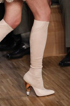 Givenchy | Paris Fashion Week | Fall 2016 - / different material for toe area and rest of boot /