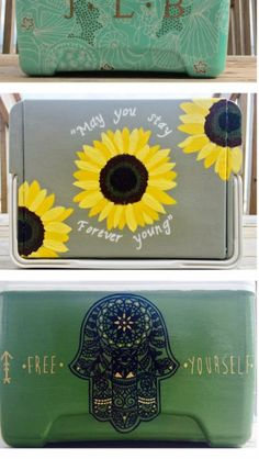Painted cooler idea for big little gift #TheCoolerNation