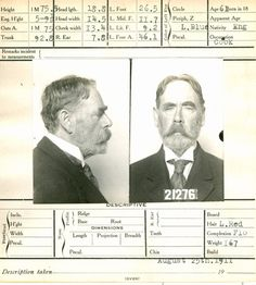 Mug Shot Criminal Record, Call Of Cthulhu, Criminology, Atoms, Old Photographs, Vintage Lettering, Gangsters, Steampunk Diy, Photo Look