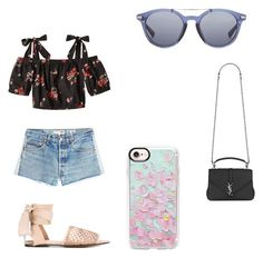 """""""😍"""" by whitp12 on Polyvore featuring RE/DONE, Casetify, Castañer, Yves Saint Laurent and Loewe"""