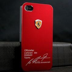 Чехол с логотипом Ferrari Красный для IPhone 5&5s