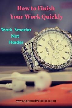 Work Efficiently and Say Goodbye to Overtime! Use this method at home too!