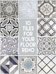 It's finally time to renovate your bathroom!  Add a bold decorative tile to your bathroom floor to really make the space pop.  Check out these 10 timeless designs that will look beautiful in any bathroom.