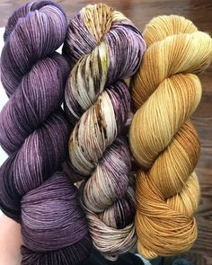 """147 Likes, 14 Comments - Kim (@barnyardknits) on Instagram: """"EGGPLANT, HEIRLOOM and GOLD LEAF!! Love this combo!!! www.barnyardknits.com #handmade…"""""""