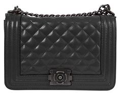Beaut Bags Box Bag 100% Genuine Leather Flap Handbag. Quilted leather bag chain style purse. Iconic shoulder bag with adjustable straps. Wear as double handle handbag or as shoulder bag. Classic designer-styled flap bag for sophisticated stylish wome...
