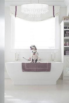 8 Fabulous Designer Upgrades For Your Master Bathroom Floor Patterns, Tile Patterns, Floating Cabinets, Arabesque Pattern, Shower Shelves, Custom Cabinets, Strip Lighting, Design Process, Master Bathroom