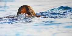 christoph eberle, schweiz, hyperrealismus, menschen, pool, malerei, oel auf leinwand Switzerland, Oil On Canvas, Waves, Artist, People, Painting, Outdoor, Hyperrealism, Painted Canvas