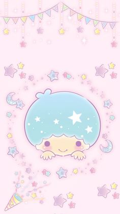 Hello Kitty Iphone Wallpaper, Sanrio Wallpaper, Mac Wallpaper, Sailor Moon Background, Rainbow Sky, Star Party, Sanrio Characters, Cute Doodles, Little Twin Stars