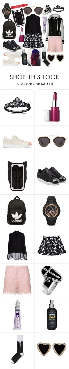 """""""Good day for Emma"""" by edetmold ❤ liked on Polyvore featuring Fidelity, Clinique, adidas Originals, Christian Dior, STELLA McCARTNEY, adidas, Siste's, LE3NO, Valentino and Urban Decay"""
