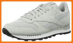 Reebok Herren Classic Leather Clip Tech Sneakers, Grau (Skull Grey/White/Black), 45 EU (*Partner Link)