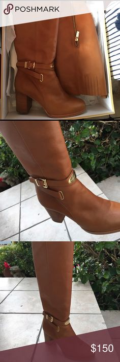 Michael Kors boots Color: Luggage brown, slightly worn KORS Michael Kors Shoes Heeled Boots