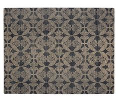 $400 on sale Pottery Barn -- Rosie Printed Natural Fiber Rug - Blue