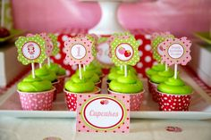 Strawberry Shortcake Themed 1st Birthday Party with Such Cute Ideas via Kara's Party Ideas | KarasPartyIdeas.com #strawberryshortcakecake #b...