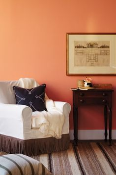 soft orange living room