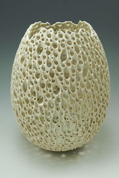 "PVO02 - Illuminated Egg Form, Porcelain, 8.25"" tall, by Simon van der Ven"
