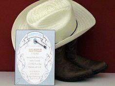 Printable 5X7 Country Boy Baby Shower Invitation...by Party Like Paula. $10.00, via Etsy.