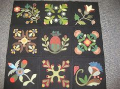 wool applique projects