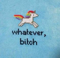 May give up my pathetic knitting efforts for needlepoint. Too fun. Unicorns and rainbows