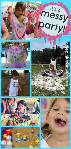 messy birthday party! :: by little pink monster (more ideas & pics in the post!)