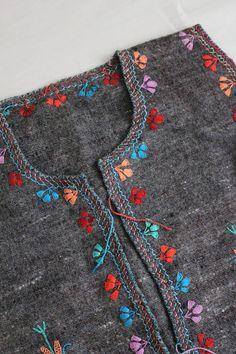peruvian vest | embroidered ethnic vest | wool vest Kurti Neck Designs, Blouse Designs, Hand Work Design, Balochi Dress, Wool Vest, Altering Clothes, Embroidered Clothes, Hand Embroidery Designs, Embroidery Dress