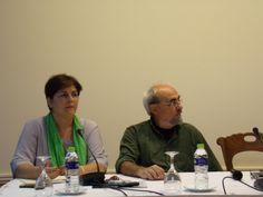 Η ακαδημαϊκή υπεύθυνη του ΜΠΣ Σοφία Ιορδανίδου δίπλα στο συγγραφέα & δημοσιογράφο Γιώργο Σκαμπαρδώνη στο Εργαστήρι Γραφής & Έκφρασης, #retreat2014