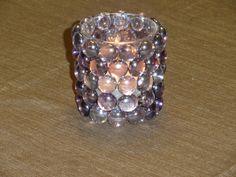 Votive Candle Holder Mosaic Glass Beads by MosaicsandArt on Etsy, $8.00