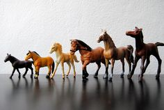 My best girlfriend and I would play with these horses for hours at a time pretending they were real.  Before falling off to sleep in my room at night, I would look at them lovingly and wished that they would come to life.  They did in my imagination!
