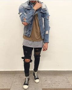 Cool layers. A little too distressed though