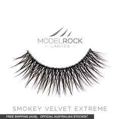 A MODELROCK original design, MODELROCK Signature Lashes - Smokey Velvet Extreme are double layeredblend silk and human hair for a natural, fluttery look. MODELROCK Signature Lashes - Smokey Velvet Extremegives your lashes definition, with a whispy yet volumised effect.