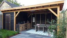 Backyard Pavilion, Backyard Bar, Backyard Seating, Backyard Patio Designs, Backyard Landscaping, Garden Bar Shed, Summer House Garden, Home And Garden, Outdoor Kitchen Design