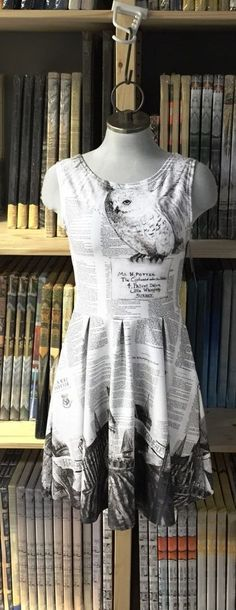 If u dont know what is on the dress it is an owl sending harry his hogwarts exeptence letter.   p.s its not mine!!
