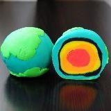 Estrutura da Terra em Massinha de Modelar! :)