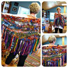 Handspun Yarn Shop and Fiber Art Blog by Neauveau: Handspun Art Yarn Shawl