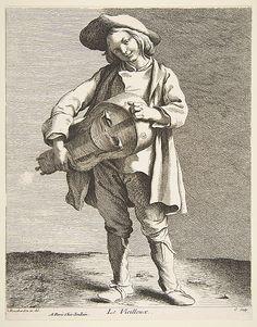 The Hurdy-Gurdy Player Anne Claude Philippe de Tubières, Comte de Caylus  (French, Paris 1692–1765 Paris)