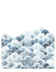 Blaue+WellenAquarellKunstdruck+von+YaoChengDesign+auf+Etsy,+$25.00