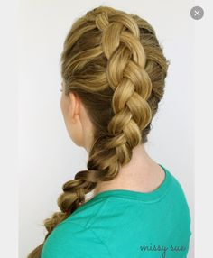 Ombré Waterfall braid | Hair & Makeup | Pinterest ...