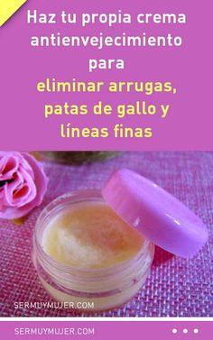 Haz tu propia crema antienvejecimiento para eliminar arrugas, patas de gallo y líneas finas #arrugas #lineasfinas #patasdegallo #antienvejecimiento #rejuvenecimiento #piel #crema #rostro #cuello