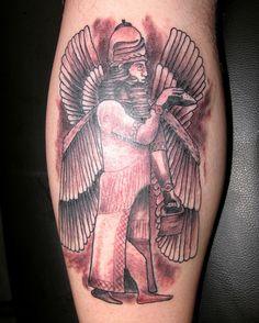 Annunaki tattoo... I bet Sonny Joon has this.