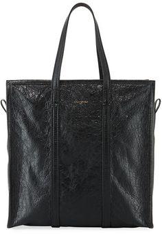Balenciaga Bazar Medium Leather Shopper Tote Bag