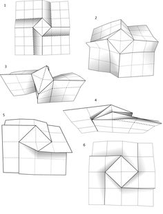 how to fold an origami spiral square tessellation Letter Folding, Paper Folding, Brochure Folds, Brochure Design, Diy Paper, Paper Art, Paper Crafts, Origami Design, Origami Art