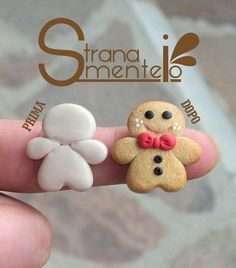 fimo - christmas gingerbread cookie man - honning kagemænd i fimo ler - jule pynt jul honningkage mand Polymer Clay Ornaments, Cute Polymer Clay, Polymer Clay Miniatures, Fimo Clay, Polymer Clay Projects, Polymer Clay Charms, Polymer Clay Creations, Polymer Clay Jewelry, Clay Crafts