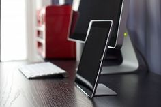Magnus is an ipad stand that relies on magnets to propt it up. This leaves a minimal design with no visible support on the front. $50
