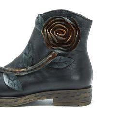 SOCOFY Sooo Comfy Vintage Handmade Rose Ankle Leather Boots Mocassini 218ed252569