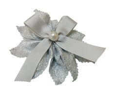 Portaconfetti coccarda argento con perla #nozzeargento #coccardaargento #bomboniera