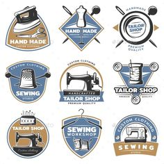 Colorful Sewing Labels Set - Miscellaneous Vectors Download here : https://graphicriver.net/item/colorful-sewing-labels-set/19634149?s_rank=34&ref=Al-fatih