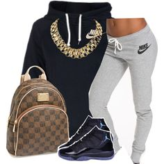 A fashion look from January 2015 featuring adidas activewear, retro red shoes and gold chain link necklace. Browse and shop related looks. Swag Outfits, Dope Outfits, Girl Outfits, Casual Outfits, Fashion Outfits, Fashion Trends, Polyvore Outfits, Jogger Outfit, Teen Fashion