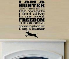 vinyl wall decal quote Hunter moto hunting
